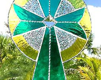 Stained Glass Suncatchers, Stained Glass Cross Suncatcher, Christian Cross Design, Stained Glass Sun Catcher, Christian Gift, 9514 -TL