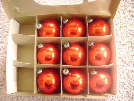 Vintage Woolworth's Red Christmas Ornaments - Fun