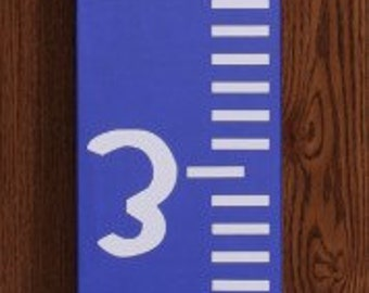 Vinyl Height Chart 5.5inches wide by 71 inches tall /Growth Chart