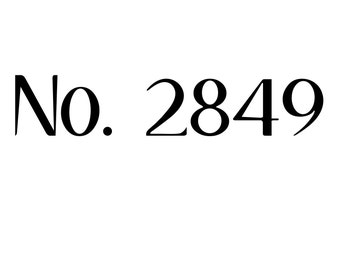 Font Door House Numbers, vinyl sign, 11.5 inches wide