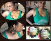 red black and green pan african earrings