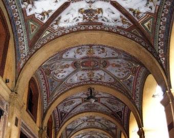 Arches in Bologna 5x7 photo - Metallic finish