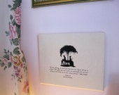 Pride And Prejudice Quote Mr Darcy's Proposal on ready to hang canvas