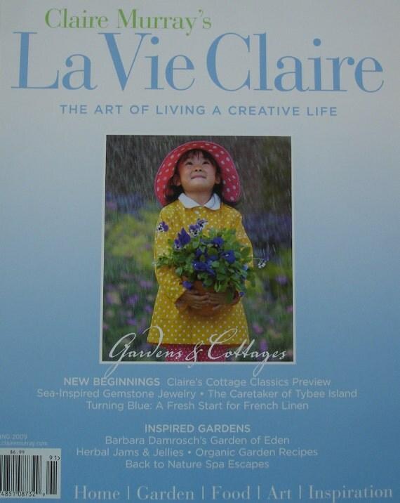 La vie claire magazine spring 2009 by boutiquelisette on etsy for Mauve la vie claire