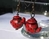 Teeny Tiny Teapot earrings