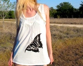 butterfly shirt white top