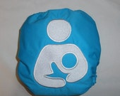 International Breastfeeding Symbol- OS Embroidered Pocket Diaper