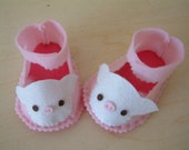 Easy sewing-DIY felt baby shoes-PDF pattern(6 different size)-H03-3
