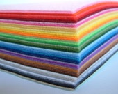 19 Felt sheets-Pick your own color from 99  colors