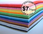5 yard felt fabric-Pick your own color from 99 colors