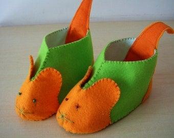 Felt shoes pattern-DIY felt mouse shoes-PDF pattern(7 different size)-H04