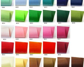 "16 felt sheets,12""x 10"", thickness1.2mm, 100% Polyester felt, Select your color from 43 colors"