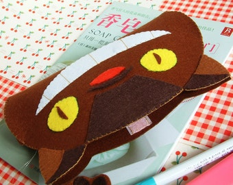 DIY felt Totoro pen bag, pencil case-PDF pattern-H06