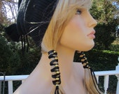 BOHO Leather Hair Wrap Ties  Beaded Hair Accessories Ponytail Holder  Z106