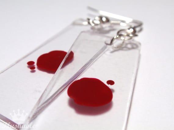 Blood Slide Earrings