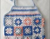 Girls crochet blouse - Crochet motif blouse - Crochet blouse - Handmade blouse - Little girls colorful motif blouse  (for 3-4 years old )