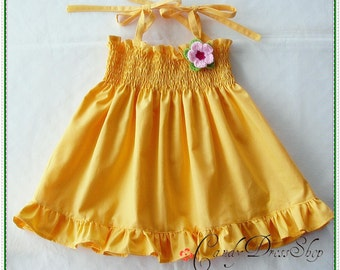 Yellow dress for girls - Girls yellow dress - Yellow dress for baby girls - for 12-18 month old (Available in sizes 6m to 6T)