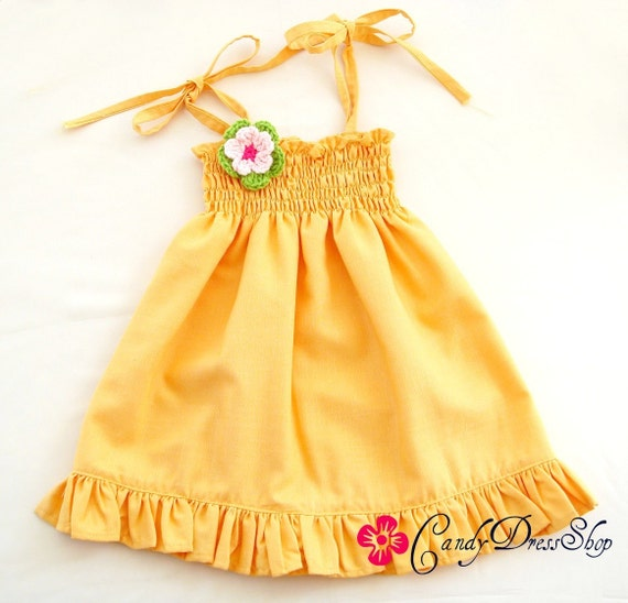SALE-Yellow Candy Dress -Ready to Ship- for 4T-5T