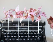 Pinwheels- 'Candy Pink and Chocolate' Mini Twirlable Cupcake Toppers