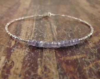 Tanzanite Bracelet Tanzanite Bracelets Womens Gift for Women Beaded Bracelets December Birthstone Bracelet Tanzanite Jewelry Bead Bracelet