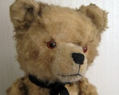Vintage Brown Teddy Bear  Sonneburg with Growler Mr Tippytoes