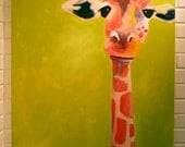 Original Painting, Large Giraffe, 30x40, Gordon
