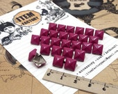 100Pcs 8mm SHOCKING PINK Color Pyramid Stud For DIY Leather Craft, Rock Style accessory, Teenage rocker look, Etc.