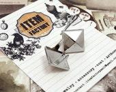 50Pcs 1/2INCH 12mm Nickel Pyramid Studs For Rocker star, Biker style, DIY Rock accessory, Etc. (PS12001)