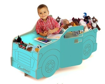Pickup (Your Toys) Truck  combination desk and double toy chests