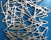 Untitled No. 103 in Brushed Aluminum 23 X 23 Mid-Century Modern Organic Forms Floating metal Wall Art