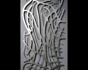 Art Nouveau Web No. 8 in Brushed Aluminum 23 X 46