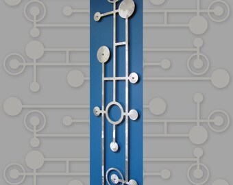 MOD Dots Skinny Floating Wall Art in 11 X 46 Textured Aluminum