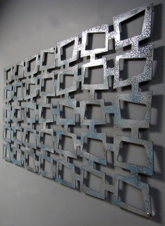 MOD Retro Squares No 2 Floating Wall Art 23 X 46 available in 25 colors