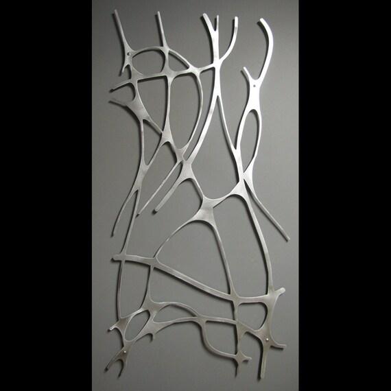Art Nouveau Web No. 1 in Brushed Aluminum