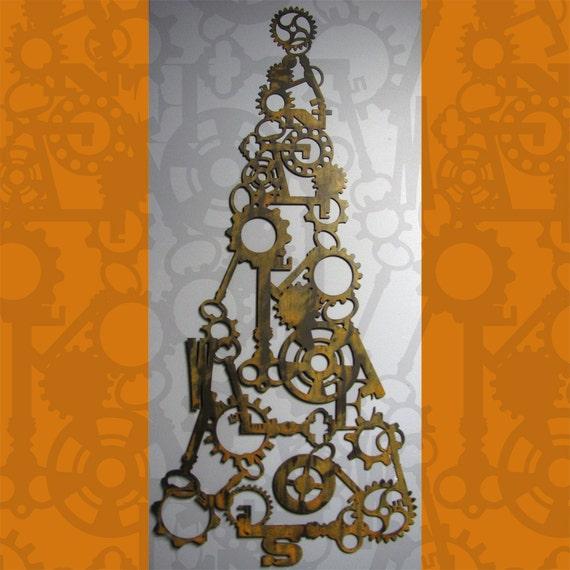 Steampunk Tree in Rusted Steel