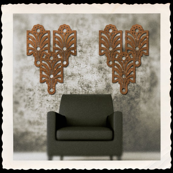 PAIR of Art Deco Arts and Craft Decorative Wall Art in 23 X 33 available in 25 colors