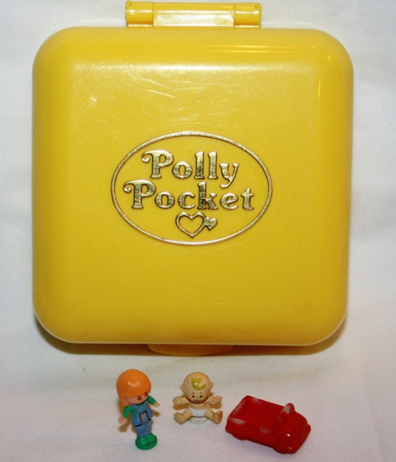 SALE..........1989...Polly Pocket MIDGES PLAYSCHOOL  Playset  Complete Yellow