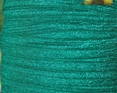5/8 inch Fold Over Elastic Trim - 10 Yards Caribbean Green