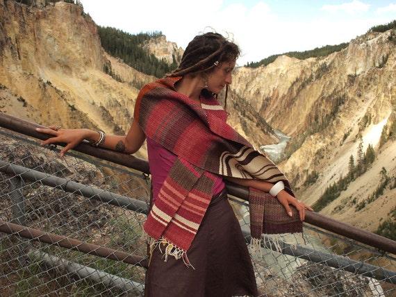 Handloom alpaca shawl - new tribe style