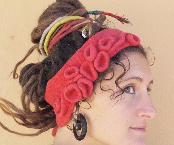 Cozy Crazy Headband - Sculptural Felted Ear-warmer