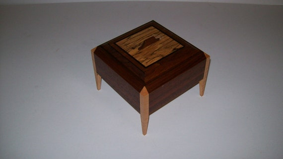 Wanut and Spalted Elm  Legged Box