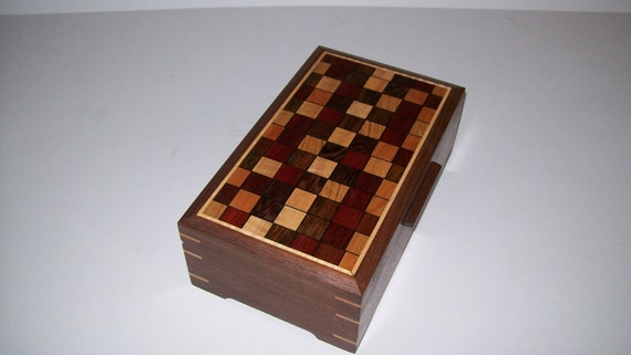 Walnut Quilted Pattern Box 2