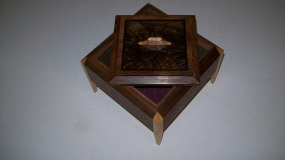 Walnut Legged Box