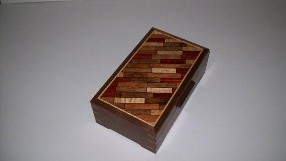Walnut Parquet Pattern Box Design Two