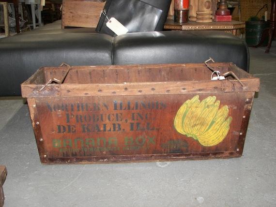 Wood Banana Crate