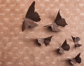 3D Wall butterflies in Chocolate Brown Paper for Home Art Decor, Nursery, Children's Room