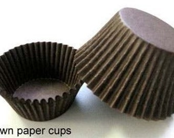 500 Mini Brown Greaseproof Cupcake Liners muffin cups 1-1/2x1 commercial baking