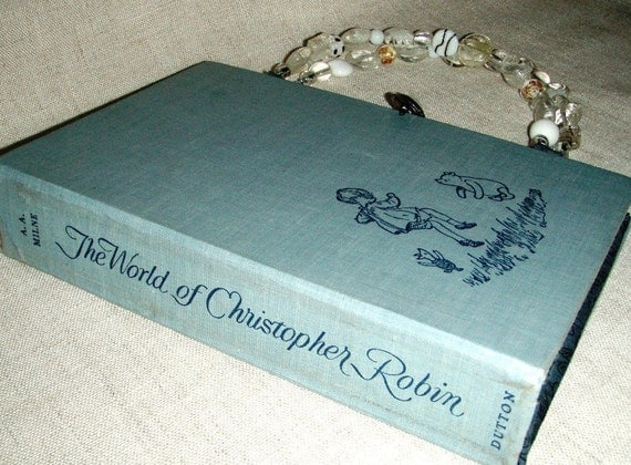 World of Christopher Robin Book Purse - an altered book purse / recycled book