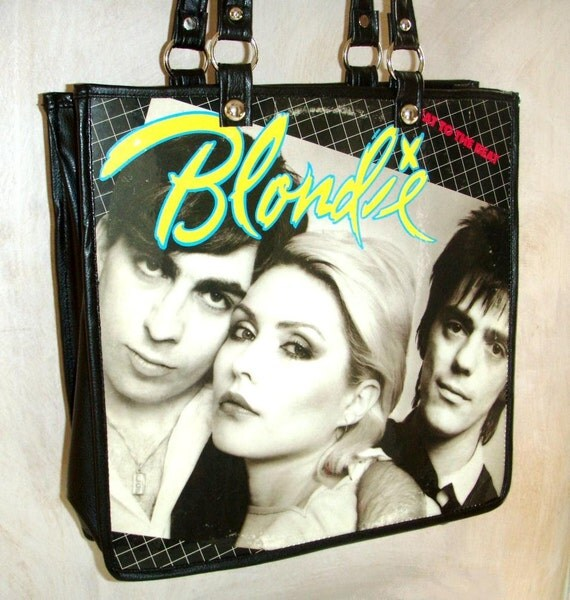 """Blondie """"Eat To The Beat"""" Record Album Cover Purse - made from vintage LP cover"""