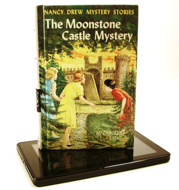 Kindle Case, Kindle Cover, Nancy Drew, converts to stand, Kindle Fire